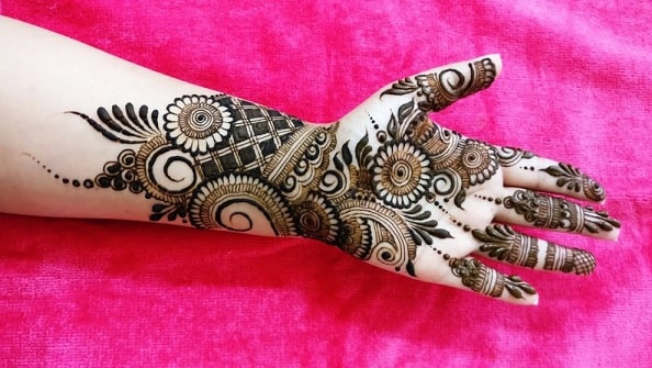 new mehndi designs 2018 simple